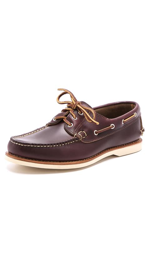deck sneakers eastland milo usa deck shoes in brown for lyst