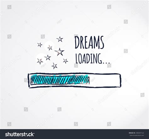 loading pattern en francais sweet dreams loading concept progress bar stock vector
