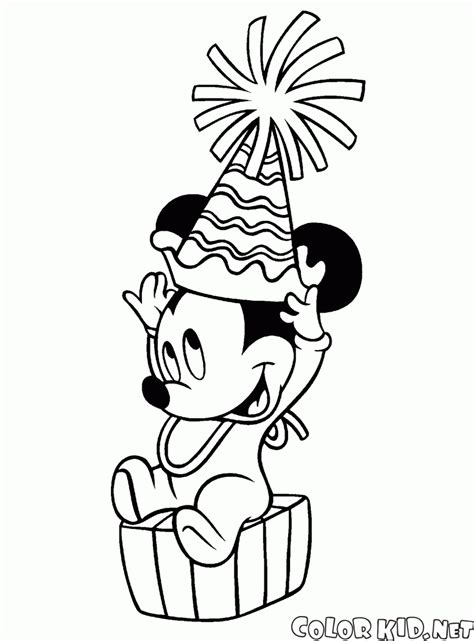 happy birthday mimi coloring page dibujo para colorear mickey mouse