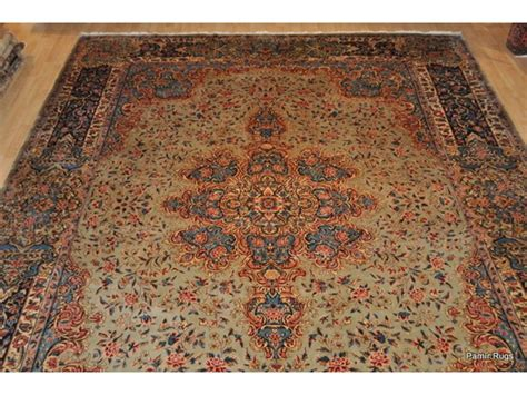 the rug place large place size antique rug green colorful 12 x 16 kerman