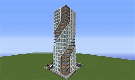 House Blue Prints modern tower minecraft project