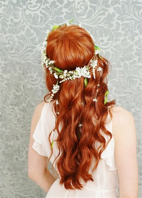 Wedding Hair Wreath Of Flowers by Bridal Hairstyles With Flowers Be Gorgeous On Your