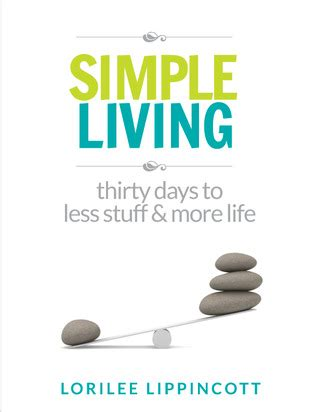 a more simple books simple living 30 days to less stuff and more by