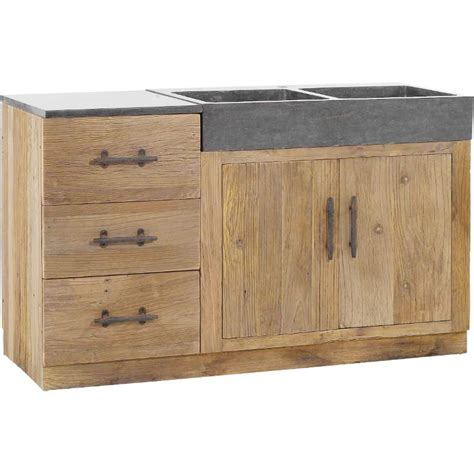 meuble pour evier cuisine meuble de cuisine avec 233 viers 144x56 5x83 5cm combloux