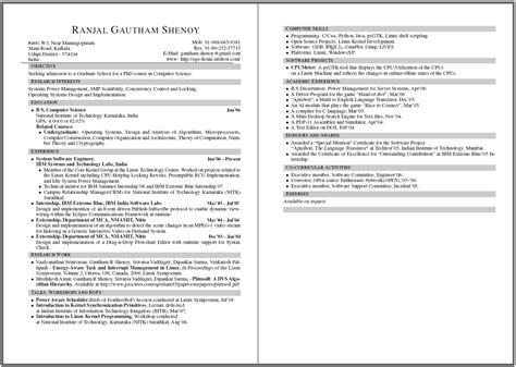 two page resume template resume webpage and more a random walk of