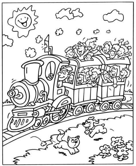 kids n fun com coloring page trains trains
