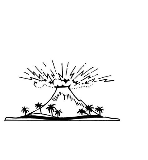 coloring pages for volcanoes free printable volcano coloring pages for