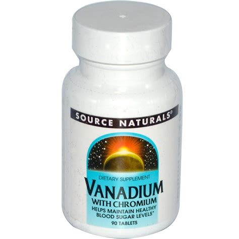 chromium vanadium source naturals vanadium with chromium 90 tablets
