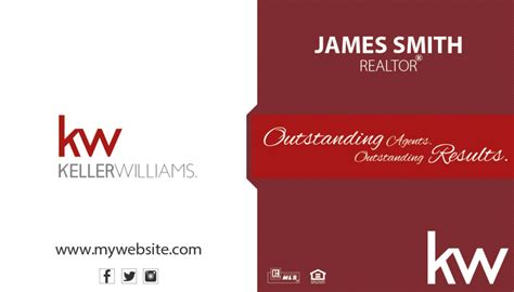 kw business card template keller williams business cards rsd kw 104 realty studio