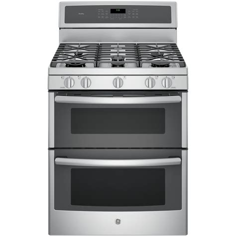 Oven Gas Convection shop ge profile 30 in 5 burner 4 3 cu ft 2 5 cu ft oven convection gas range stainless
