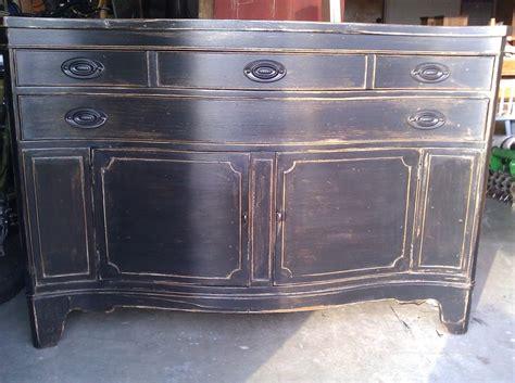 distressed black buffet distressed furniture