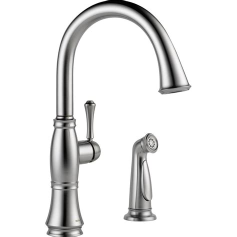 delta classic single handle standard kitchen faucet in delta classic single handle standard kitchen faucet with