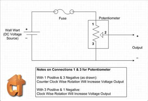 potentiometer wiring diagram how to connect potentiometer