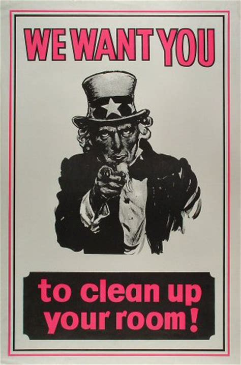 how do you clean your room we want you to clean up your room poster