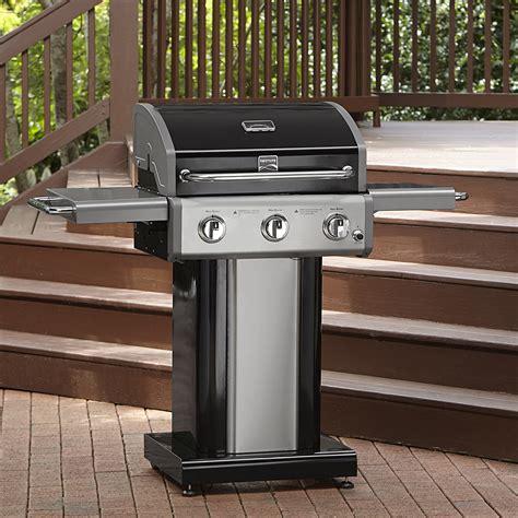 kenmore 3 burner black patio grill