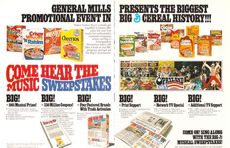Cereal Sweepstakes - 1981 general mills cereal come hear the music sweepstakes ad a photo on flickriver
