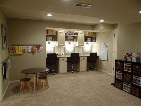 basement play area basement workstation play area storage for