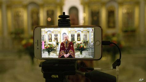 orthodox churches hold diminished easter services  pandemic voice  america english