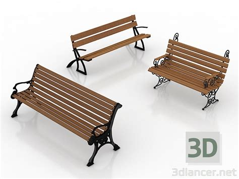 bench 3d model 3d model bench in the style of classicism download for free on 3dlancer net