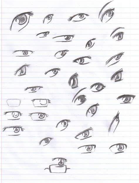 anime eyes drawing in pencil anime eyes reference pencil by verie on deviantart