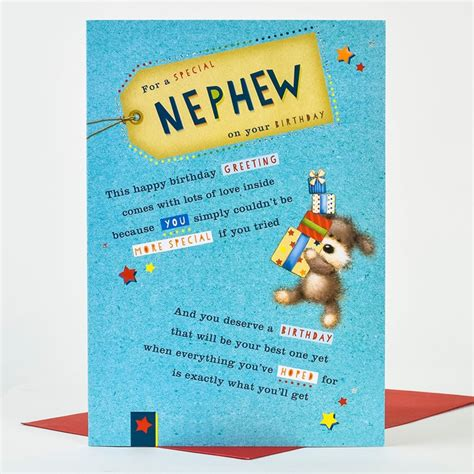 Wedding Anniversary Cards For Nephew by Birthday Card Greetings Nephew Only 99p