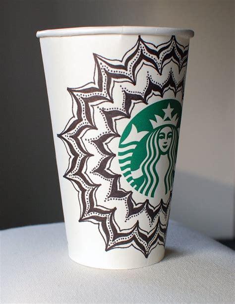 starbucks coffee cup doodle petals doodle starbucks cup