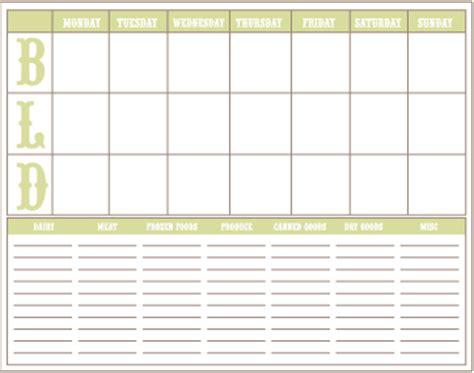 20 free menu planner printables | fab n' free