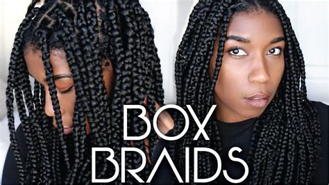 box braids protective style easy steps  beginners video black hair information
