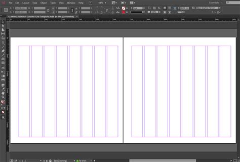 in design layout grid free indesign 330mmx310mm 8 column grid template crs