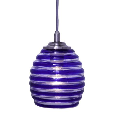 Pendant Light Blue Hton Bay 1 Light Blue Swirl Glass Ceiling Pendant 25380 71 The Home Depot