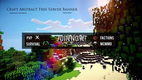 free minecraft server banner template for