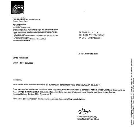 Resiliation Sfr Lettre Adresse L Incomp 233 Tence Des Fournisseurs D Acc 232 S 224 171 Pro
