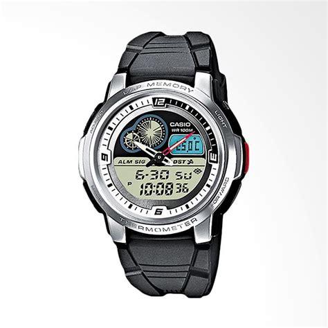 Jam Tangan Casio Original Aqf 102w 7bvdf jual casio jam tangan pria black silver aqf 102w 7bvdf