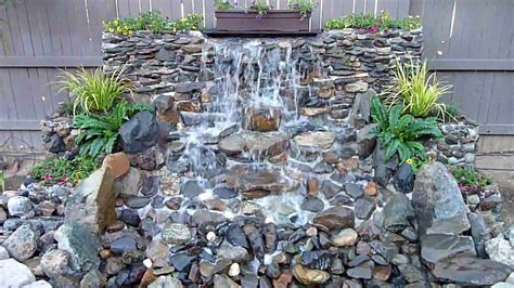 diy backyard waterfall diy backyard waterfall youtube