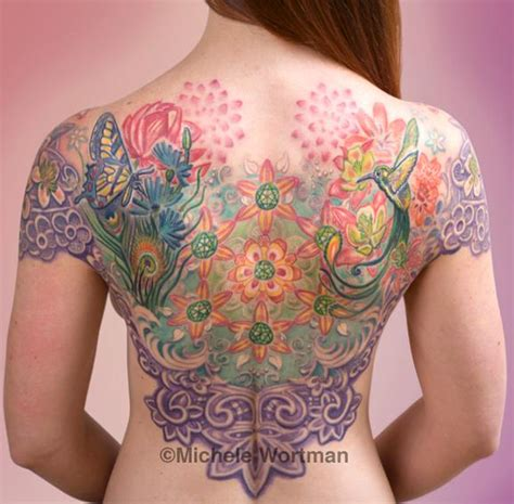 echo tattoo hyperspace studios tattoos back chest echo mandala