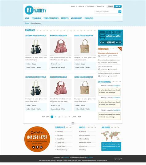 template joomla zip download free bt variety fashion catalog joomla