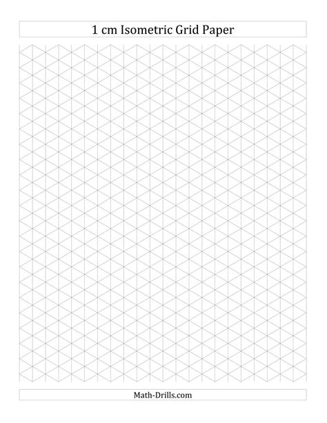 printable isometric triangle paper 1 cm isometric grid paper portrait a