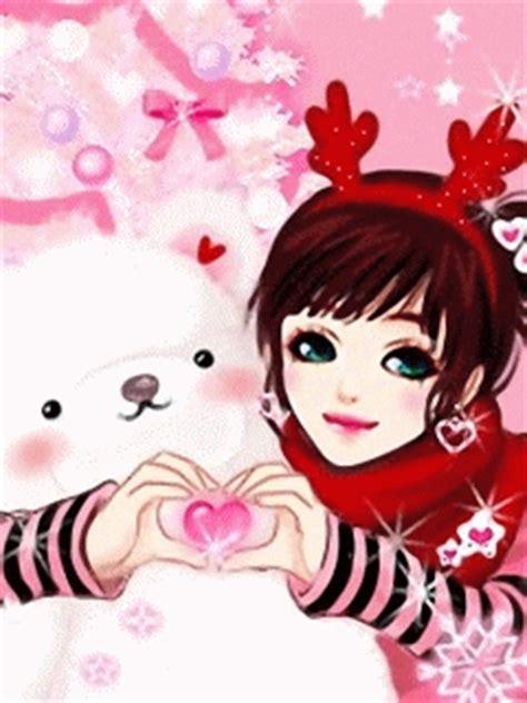 wallpaper cantik kartun korea gambar kartun korea cantik jatuh cinta gambar anime