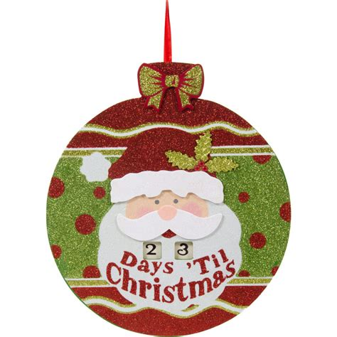 10 quot countdown to christmas santa ornament sign 2515 284