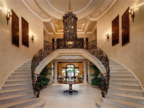 foyer staircase foyers staircases homes of the rich