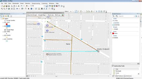 tutorial arcgis mobile arcgis 10 5 tutorial digitize shapefile from google maps