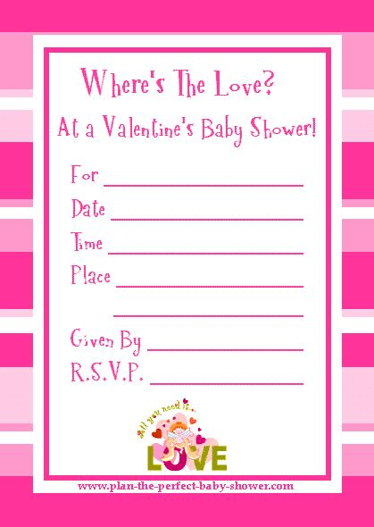 a baby shower valentines invitation to write home about