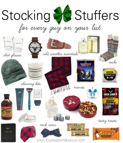 stocking stuffer ideas for him stocking stuffers for him four season fabulous