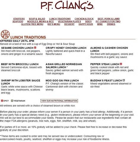 pf chang s home menu p f chang s china bistro vs hong kong restaurant com447