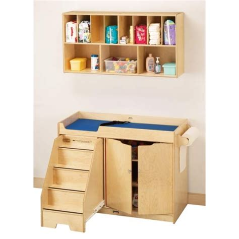 changing table with stairs jonti craft changing table w left side stairs