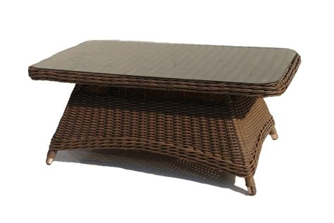 bayshore outdoor wicker coffee table