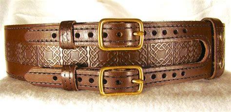 kilt belt leather brown chestnut buckle kilt belt