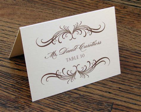 table cards for wedding printable place cards