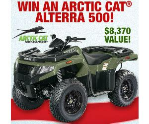 Bass Pro Sweepstakes 2017 - win a 2017 arctic cat alterra 500 from bass pro shop free sweepstakes contests