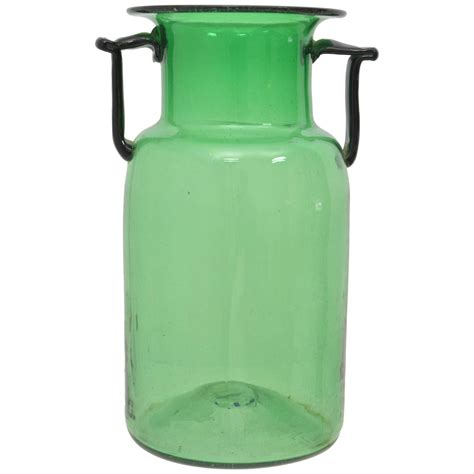 Emerald Green Vase by Emerald Green Glass Vase For Sale At 1stdibs